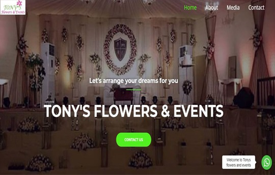 tonys flowers and events